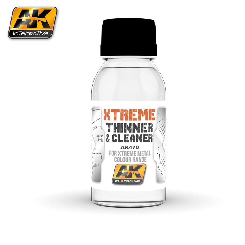 Очиститель - растворитель для металликов XTREME 100 мл. AK-INTERACTIVE AK470
