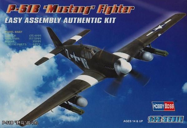 P-51B Mustang. Сборная модель самолета в масштабе 1/72. HOBBY BOSS 80242