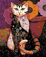 """AS 0281 """"Мистический кот""""  Картина по номерам на холсте Art Story 40x50см"""