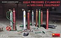 Баллоны высокого давления со сварочным оборудованием. Сборные модели в масштабе 1/35. MINIART 35618