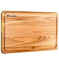 Доска деревянная кухонная разделочная прямоугольная 45х30х2 см