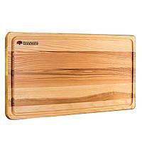 Доска деревяннная кухонная разделочная прямоугольная 50х30х2 см