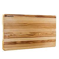 Доска деревянная кухонная разделочная торцевая 50х30х4 см