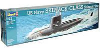 US Navy SKIPJACK-CLASS Submarine.  Сборная модель подводной лодки в масштабе 1/72. REVELL 05119