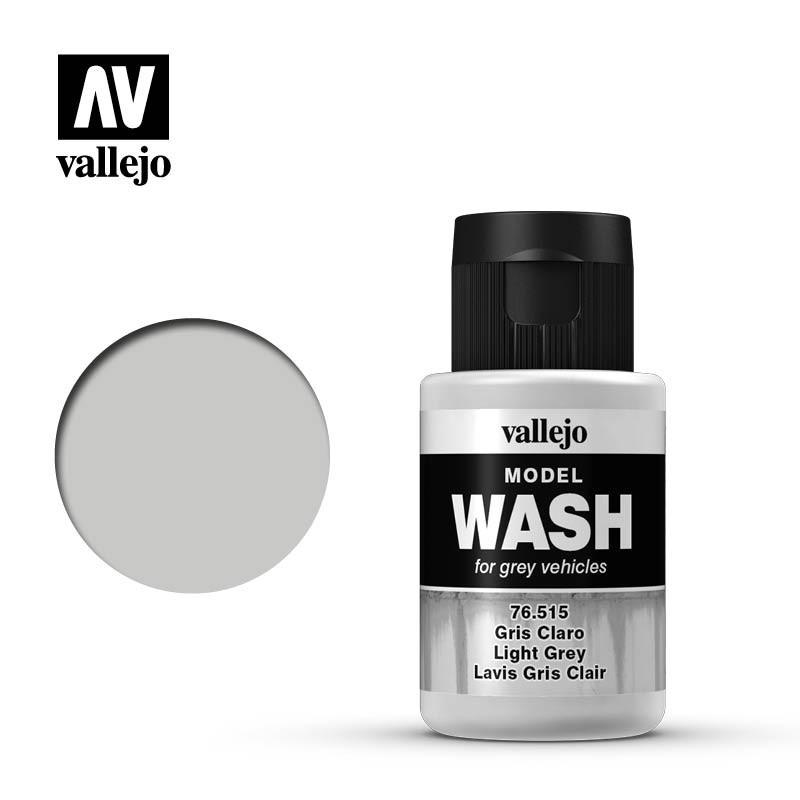 Смывка светло-серая для сборных пластиковых моделей техники, 35 мл. VALLEJO 76515