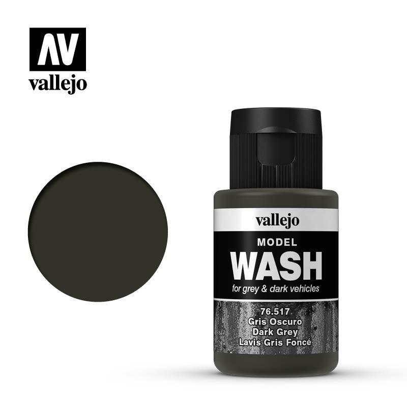 Смывка для пластиковых моделей темно-серая 35 мл. VALLEJO 76517