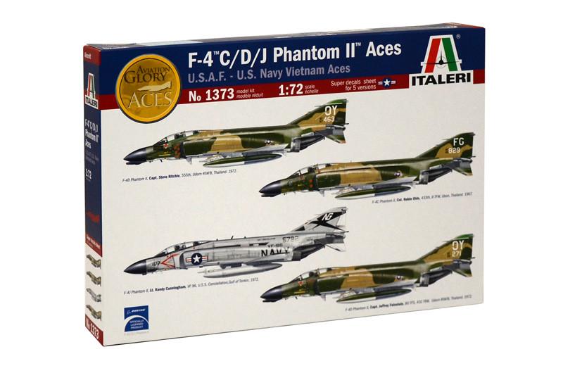F-4 C/D/J PHANTOM II ACES USAF-US Navy Vietnam ACES. Сборная модель самолета. 1/72 ITALERI 1373