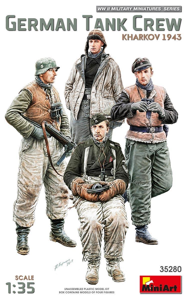 Немецкий экипаж танка. Харьков 1943 год. 1/35 MINIART 35280