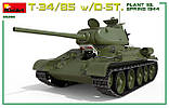 Т-34/85 Д-5Т (112 завод, обр.1944 г.). Сборная модель (с интерьером) танка в масштабе 1/35. MINIART 35290, фото 4
