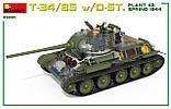 Т-34/85 Д-5Т (112 завод, обр.1944 г.). Сборная модель (с интерьером) танка в масштабе 1/35. MINIART 35290, фото 5