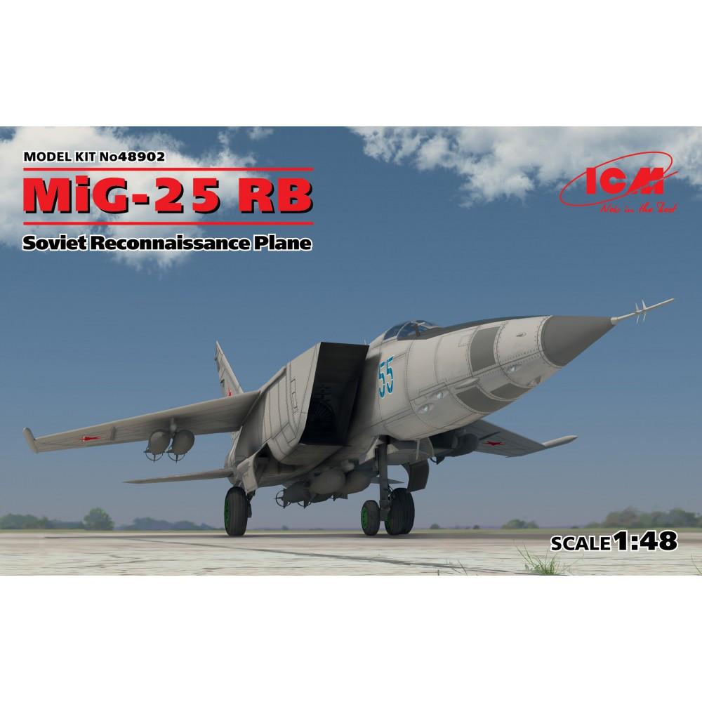 МІГ-25 РБ Літак-розвідник. Збірна модель літака в масштабі 1/48. ICM 48902