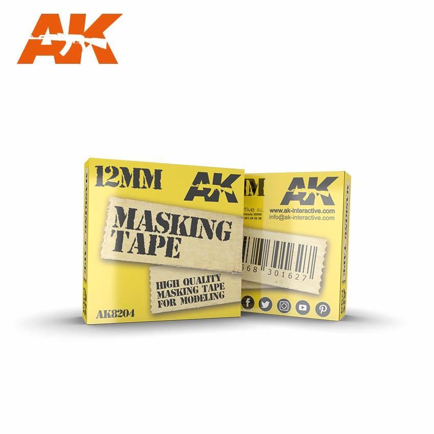 Маскирующая лента 12 мм. AK-INTERACTIVE AK8204