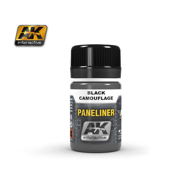 """Жидкость для выделения расшивки авиации """"Paneliner"""" для черного камуфляжа 35 мл. AK-INTERACTIVE AK-2075"""