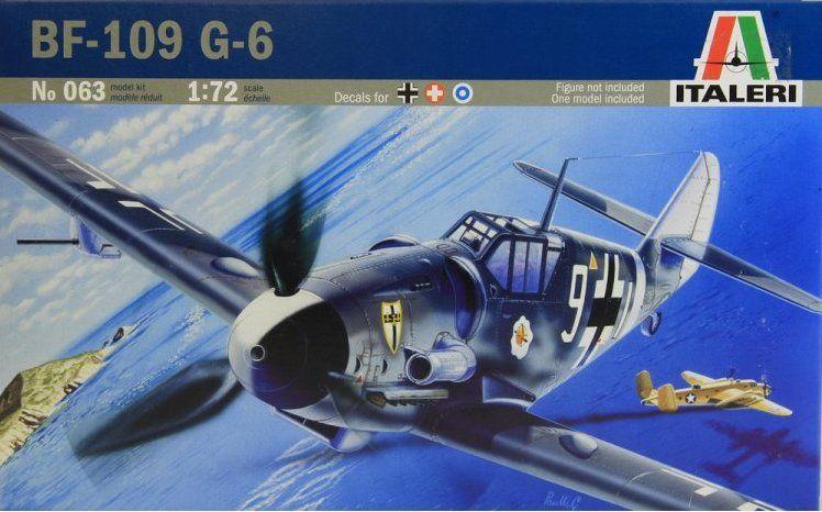 Messerschmitt BF-109 G-6. Сборная модель самолета в масштабе 1/72. ITALERI 063