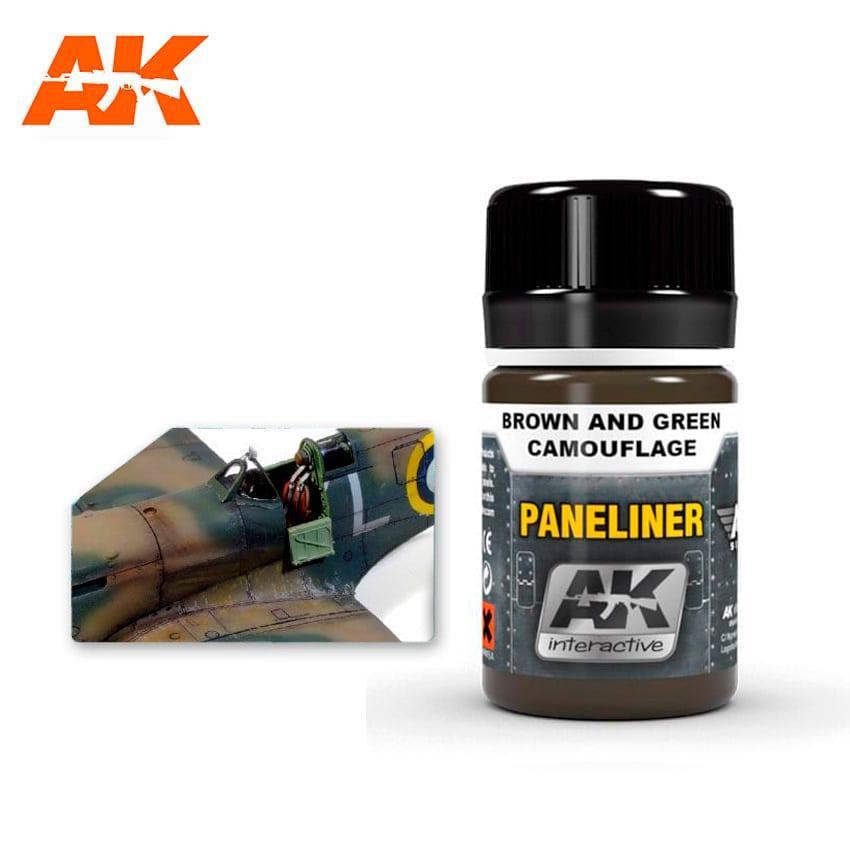 """Жидкость для выделения расшивки авиации """"Paneliner"""" для зеленого камуфляжа 35 мл. AK-INTERACTIVE AK2071"""