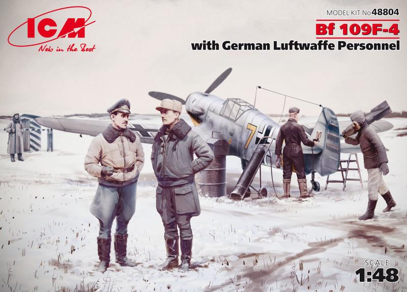Bf 109F-4 с Германским персоналом Люфтваффе. 1/48 ICM 48804