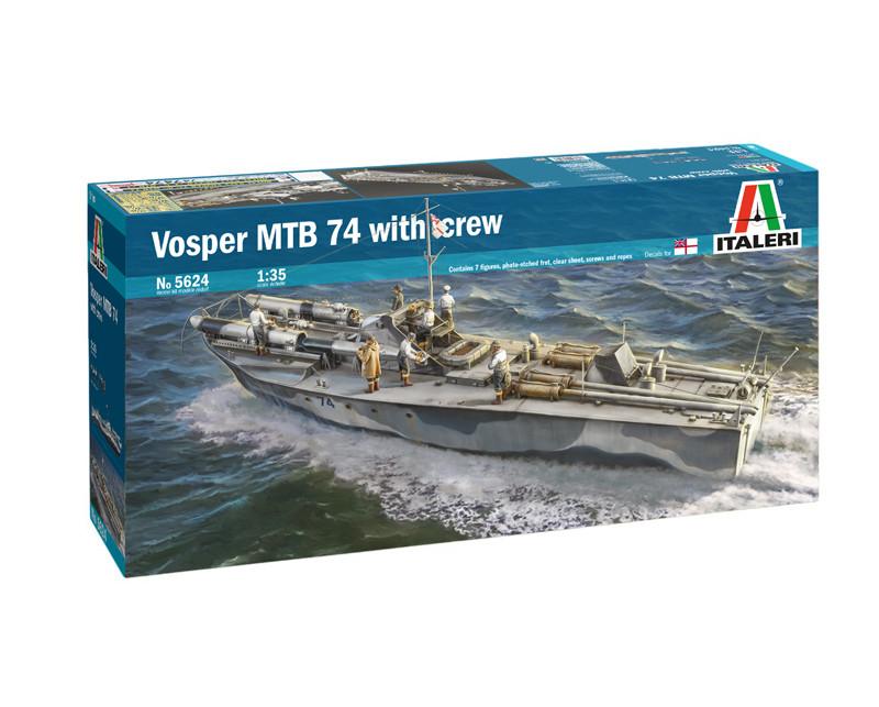 Vosper MTB 74. Сборная модель торпедного катера с экипажем в масштабе 1/35. ITALERI 5624