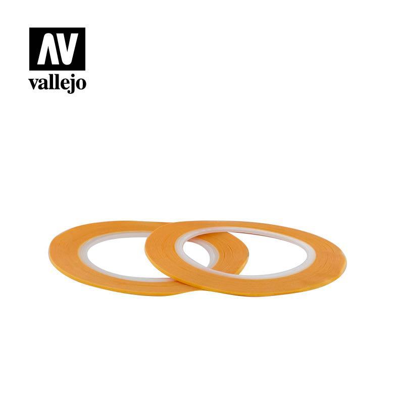 Маскирующая лента (модельный скотч), 1 мм x 18 м (2 штуки). VALLEJO T07002