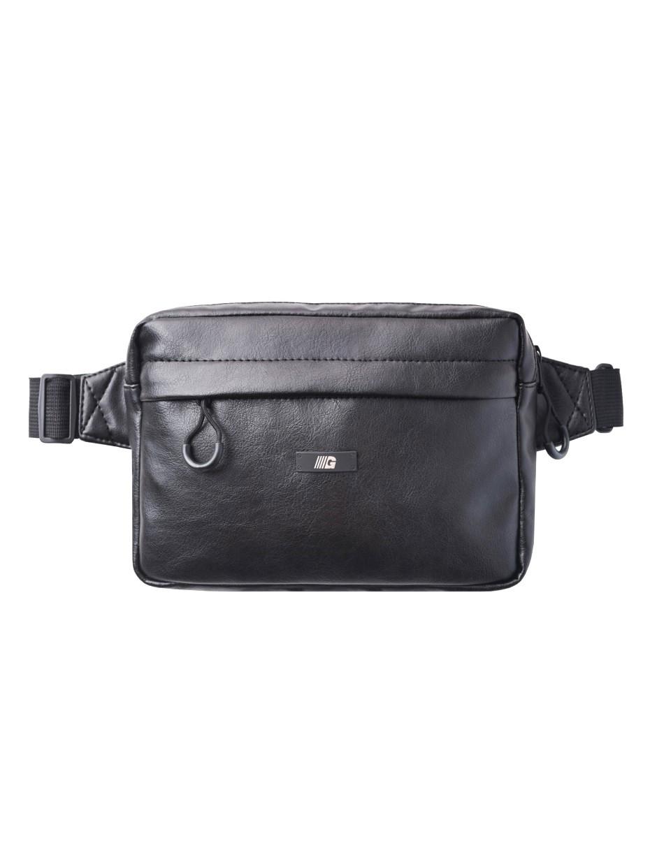 Сумка на пояс CUBE eco-leather | черный глянцевый 1/19 Черный (WB1008/GRD)