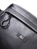 Сумка на пояс CUBE eco-leather | черный глянцевый 1/19 Черный (WB1008/GRD), фото 3
