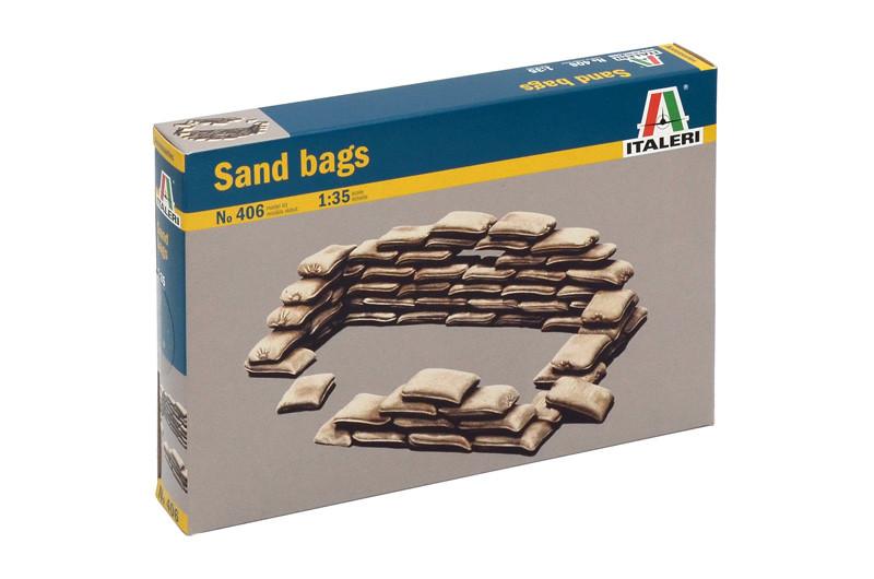 Мешки с песком. Пластиковая модель в масштабе 1/35. ITALERI 406