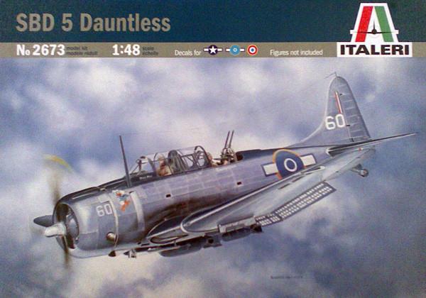 Модель военного самолета DOUGLAS SBD-5 DAUNTLESS.1/48 ITALERI 2673
