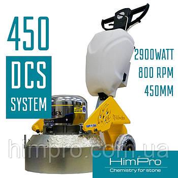 HERCULES 450 - Шлифовальная машина для бетона и мрамора с системой DCS.