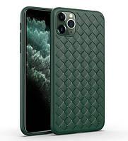 Чехол-накладка Silicone Weaving Case для Iphone 11 Pro Green, фото 1