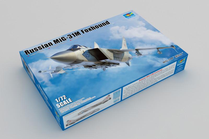 МиГ-31М Лисенок. Сборная модель истребителя в масштабе 1/72. TRUMPETER 01681