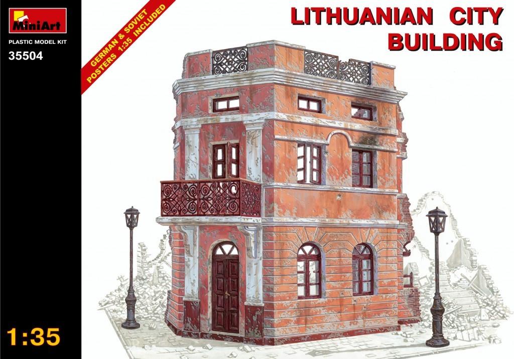 Сборная пластиковая модель. Литовское городское здание. 1/35 MINIART 35504