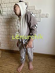 """Комбінезон кигуруми """"Панда"""" з капішоном і вушками (махра), 26, 28, 30 і 32 розміри (1-5 років)"""