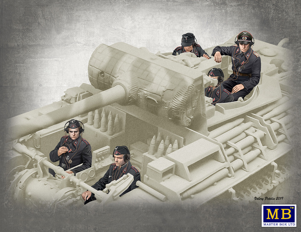 Немецкие танкисты, 1944-1945 г. Набор фигур танкистов в масштабе 1/35. MASTER BOX 35201