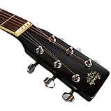 Набор акустическая гитара Bandes AG-831C BK 38+чехол+каподастр, фото 4
