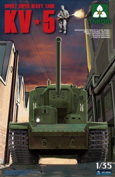 КВ-5 модель для сборки супер тяжёлого советского 3х башенного танка 1/35 TAKOM TAK2006