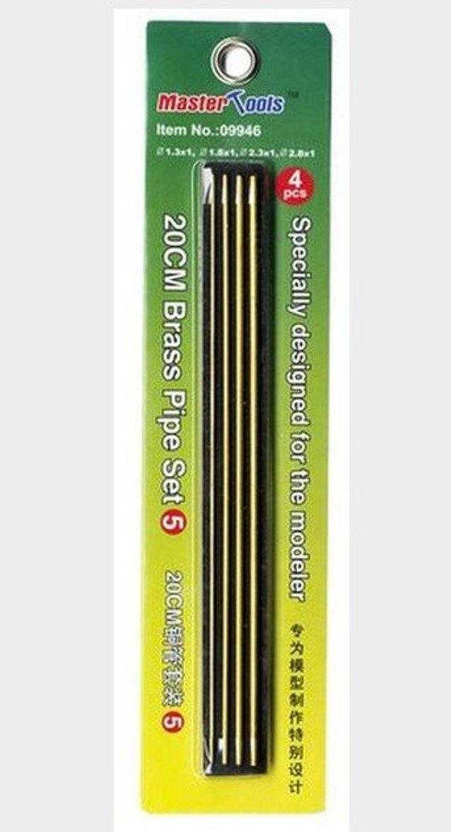 Набор медных трубочек 20 см Set 5 (1.3,1.8,2.3,2.8 мм).MASTER TOOLS 09946