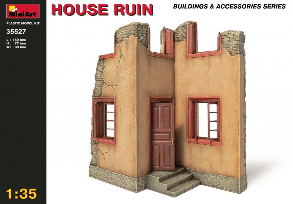Руины дома. Сборная модель в масштабе 1/35. MINIART 35527