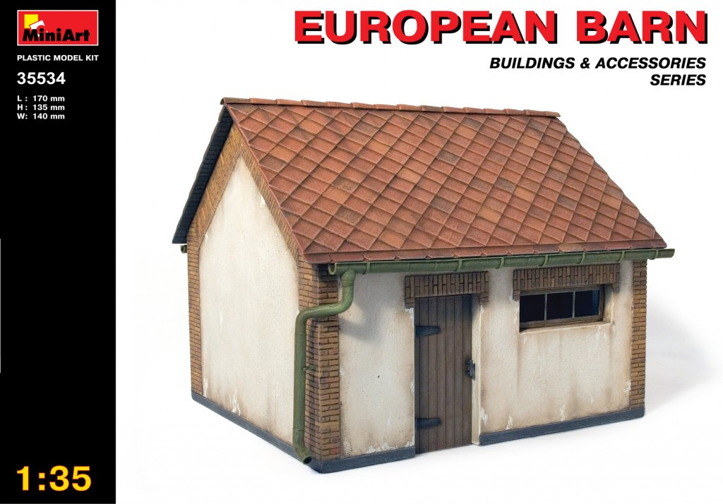 Европейский сарай. Сборная модель в масштабе 1/35. MINIART 35534