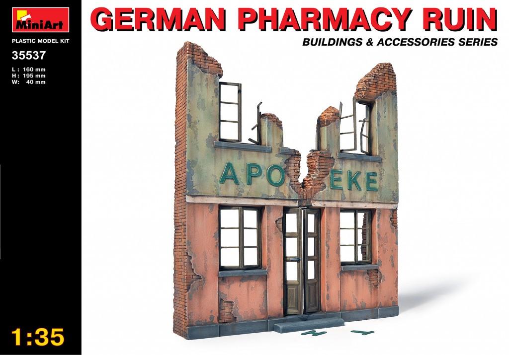 Руины немецкой аптеки. Сборная модель в масштабе 1/35. MINIART 35537