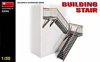 Металлическая лестница для зданий. Сборная модель в масштабе 1/35. MINIART 35545