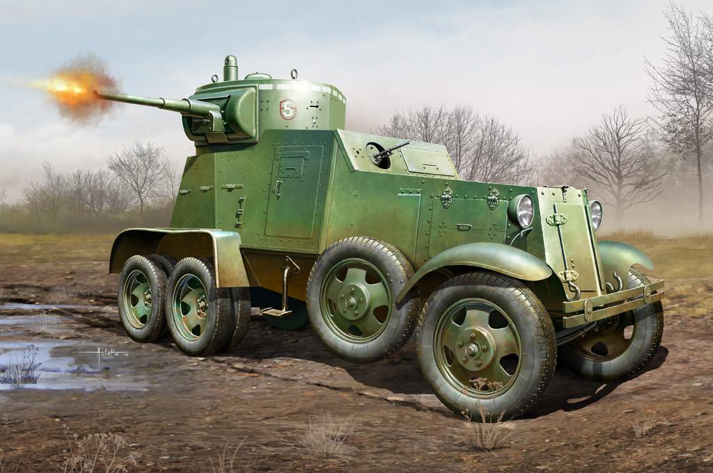 БА-3. Збірна модель радянського бронеавтомобіля в масштабі 1/35. HOBBY BOSS 83838