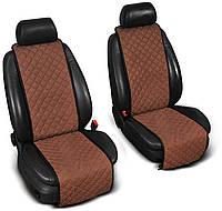 Накидки на сидения из Алькантары PREMIUM Коричневые - на передние сиденья ОРИГИНАЛ ПОЛЬША
