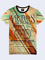 Мужская футболка с принтом Ретро велосипед