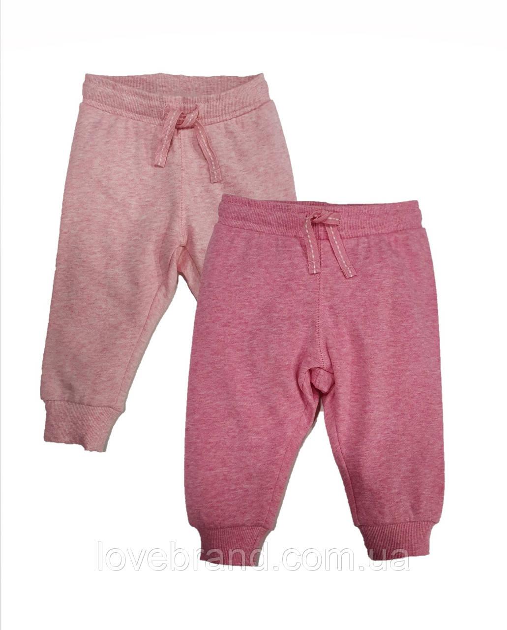 Cпортивные штаны для новорожденной девочки H&M розовые теплые