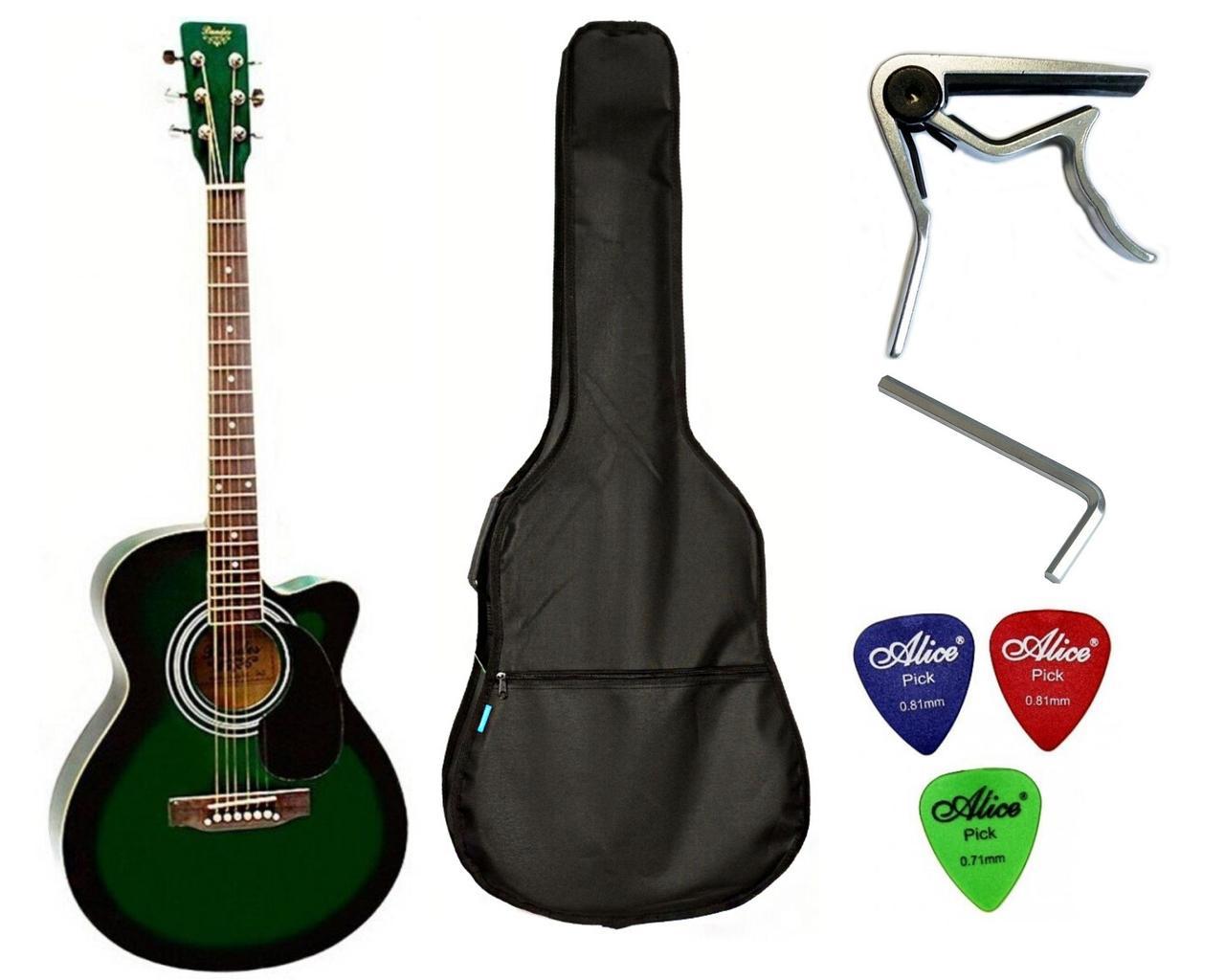 Набір акустична гітара Bandes AG-851C GL 39+ чохол+каподастр