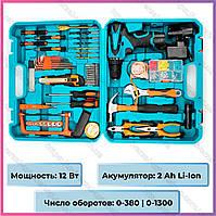Шуруповерт Makita DF330DWE (12V, 2AН) с набором инструментов. Аккумуляторный шуруповерт Макита