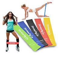 Эспандер ленточный для фитнеса набор, Esonstyle, резинки для тренировок и спорта (5 эспандеров/уп.), Тренажеры