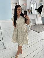 Женское платье  батал  лен, фото 1