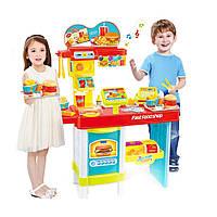 Детский игровой набор Fast Food Shop (48 предметов) игрушечный магазин (макдональдс) с кассой | 🎁%🚚, Интерактивные развивающие игрушки, головоломки