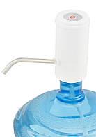 Электрическая помпа для бутилированной воды Domotec MS4000 (5672) Белая, аккумуляторная, на бутыль, Товары для