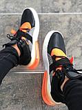 Мужские кроссовки в стиле Nike Air Force 270 black/orange (Реплика ААА), фото 4